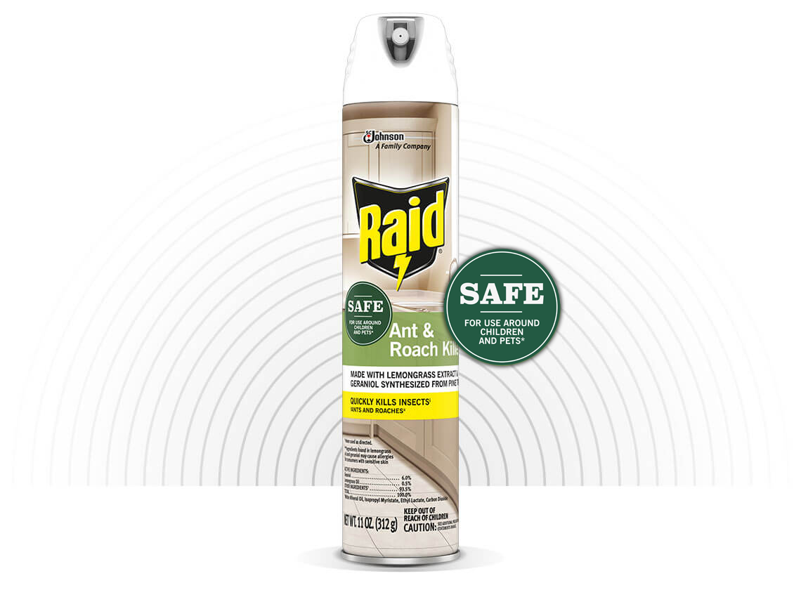 RAID® ANT & ROACH WITH ESSENTIAL OILS