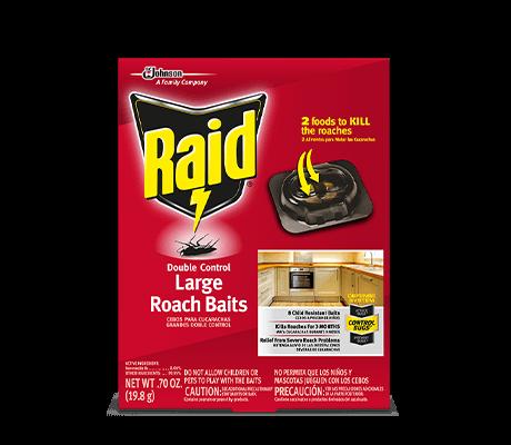 RAID DOUBLE CONTROL LARGE ROACH BAITS